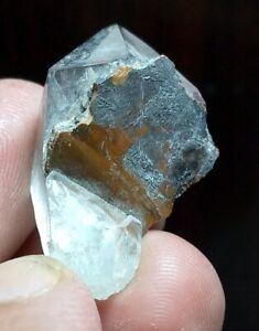 09 Grams Lovely Rare Brookite On Quartz Specimen from Baluchistan Pakistan