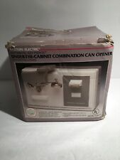 Eastern Electric Under The Cabinet Combination Can Opener Kitchen Appliance