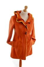 H&M Wollmantel Jacke Wolle orange Hippie Kapuze Wollmix S