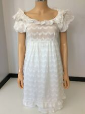 Juicy Couture White Cotton Dress Us 4 Uk 8