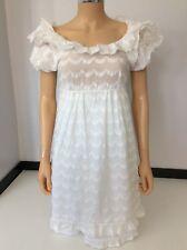 Juicy Couture en coton blanc robe US 4 UK 8