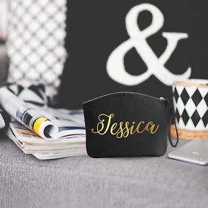 PERSONALISED Make up bag / Wristlet / Pouch / Cosmetic / Gift / Present