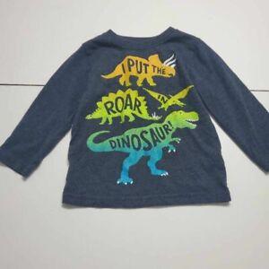 I Put The Roar In Dinosaur Garanimals Toddlers T-Shirt Blue Heathered Crew 2T