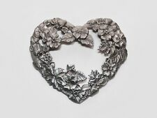 RAWCLIFFE PEWTER HEART - Flowers & Leaves - LID ONLY - 1995 - PC 2932