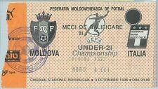 68524 -  BIGLIETTO PARTITA CALCIO 1996 : ITALY /  MOLDOVA Campionato UEFA