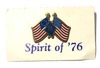 Vintage Spirit of 76 USA Pin Bicentennial Betsy Ross Flag American Flag Pin Back
