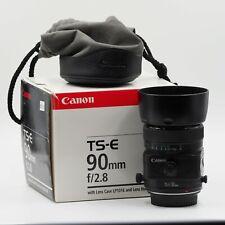 Canon TS-E 90mm f2.8 Tilt Shift Lens 90/2.8 TSE  in BOX