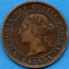Canada 1886 1 Cent One Large Cent Coin - F/VF