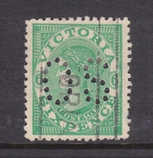 Victoria 6d Qv Sg423b Wmk C Over A Inverted Perf Os Used.