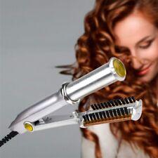 2 In 1 Professional Wet To Dry Hot Rotating Iron Hair Brush Curler Straightener