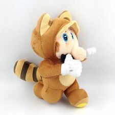 "New Super Mario Bros Running Raccoon Tanooki 8"" Plush Toy Doll Stuffed Animal"