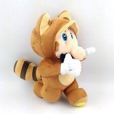 "New Super Mario Bros Running Raccoon Tanooki 8"" Plush Toy Doll Stuffed Animal"