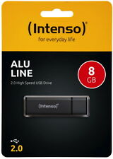 Intenso USB Stick 8GB Speicherstick Alu Line anthrazit