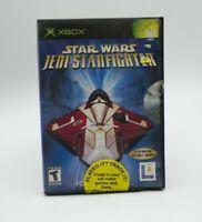 Star Wars Jedi Starfighter Xbox W/manual Tested Free Shipping