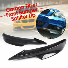 CARBON FIBRE FRONT LIP SPOILER SPLITTERS for 09-11 BMW E90 E91 LCI M TECH BUMPER