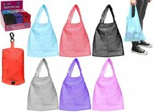 New Shopping Plain Folded Shopping Bags In Pouch 6 Assorted Colours Folding Bag
