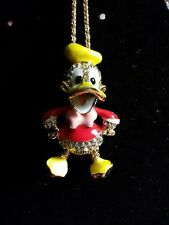 Betsey johnson Yellow pink n Red Donald Duck necklace