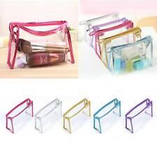 Women Clear Transparent Cosmetic Toiletry PVC Zip Makeup Wash Bag Pouch Travel