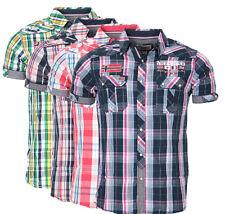 Geographical Norway Herren Karo Hemd kurzarm T-Shirt Polo Club ZARTAR Slim FiT