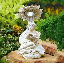 Solar Powered Decorative Fairy Light Outdoor Garden Ornament Statue Table Top