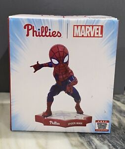 2019 Philadelphia Phillies Spider-Man Bobblehead NEW IN BOX! w/ BONUS - Rare!!