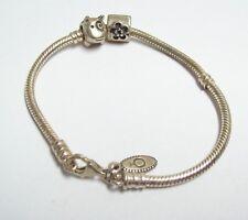 PANDORA Sterling Charm Bracelet - Flower & DOG Charms