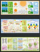 Japan 2017 MNH Greetings Celebration Design 3x 10v S/A MS Dogs Cats Doves Stamps