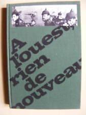 Erich-Maria Remarque A l'Ouest Rien de Nouveau Editions Stock 1968