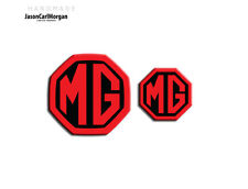 MG ZT MK1 Badge Inserts Front Grill Rear Badges Fits Emblems 59mm 40mm Black Red
