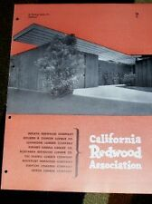 Vtg California Redwood Association Catalog/Guide 1951