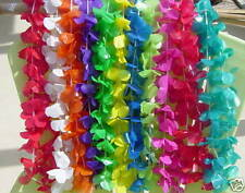 50 LEI s ASSORTED 10 COLORS NICE LOT TROPICAL HAWAIIAN Favors, Decor, NEW