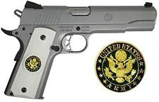 1911 Government Model Grips with US Army Emblem Set In Ivory Polymer Grips G15