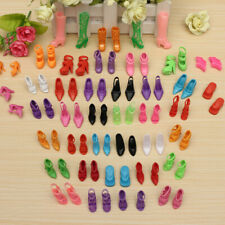 40 Pairs Fashion Assorted Multiple Styles High Heel Shoes for Barbie Doll