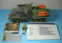 1986 GI Joe HAVOC Tank Vehicle w/ Cross Country & Blueprints *Complete BROKEN*