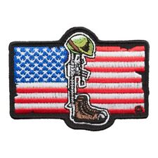 American Flag Fallen Soldier Patch, Fallen Heroes Patches