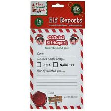 25pk A5 Elf Report Card Christmas Xmas Naughty Nice Behaviour Kids Letter Game