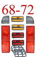 68 72 Chevy 8Pc Tail Light Kit W/ Deluxe Chrome Side Lights GMC Truck & Blazer