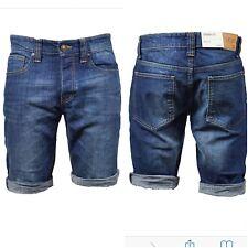 Mens LCJ Denim Slim Fit Classic Shorts stretch Jeans