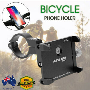 Mobile 360° Rotation Phone Holder Mount Alloy for Motorcycle Bicycle Bike AU