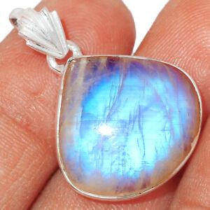 Rainbow Moonstone - India 925 Sterling Silver Pendant Jewelry BP13651