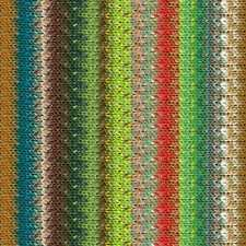 NORO ::Taiyo #108:: cotton silk wool yarn Lime-Teal-Bronze-Red-Forest-Browns