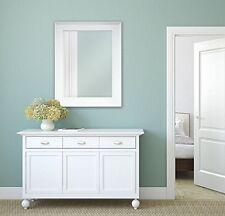 Large Bathroom Mirror For Wall Beveled Frame White Decor Mount Hanging Vanity