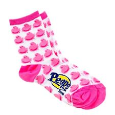 1X Peeps Pink Chick Socks; Youth SMALL - See Label For Shoe & Sock Size Info