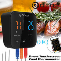 DIGOO 3 Probe Touch bluetooth Digital Cooking Meat BBQ Thermometer APP Control