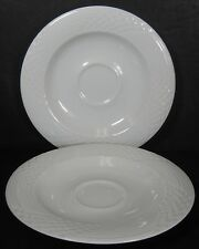 HUTSCHENREUTHER Bavaria BIANCA Scala pattern Saucer - Set of Two (2) @ 6-1/4""