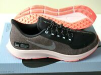 Nike Womens Air Zoom Pegasus 35 RN SHLD Running Shoes Oil Grey Silver Size 7.5