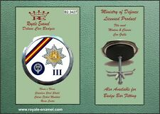 Royale Car Grill Badge ROYAL ANGLIAN 3RD BATTALION THE POMPADOURS - B2.3427