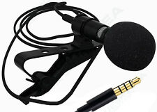 Clip-on Lapel Lavalier Mini Microphone 3.5mm Jack For iPhone SmartPhone Samsung