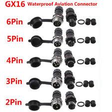 2Pin/3/4/5/6Pin GX16 Impermeable Codificador Sensor Enchufe de Conector de aviación