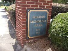 Cemetery Plots,  Lot of 2 Burial Spaces at Sharon Memorial Park,  Charlotte, NC